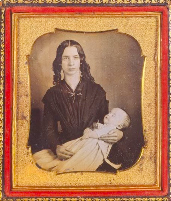 Victorian Memento Mori Mother with Child