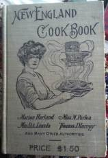 Marion Harland etal's 1905 New England Cook Book. A joy to read, if a bit tricky to cook with.