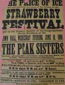 The poster for the 1890 Strawberry Festival. (Image: Danielle Jurdan)