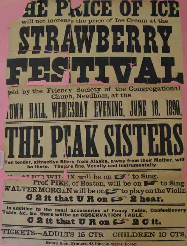 The poster for the 1890 Strawberry Festival. (Image: Danielle Jurdan)