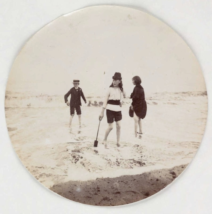 Seriously, Ma, you expect me to play at the beach in a suit? (Photo: National Media Museum)
