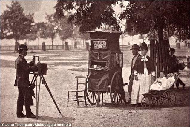 Clearly the most disreputable of the lot -- a down and out photographer taking photographs on the cheap on Clapham Common. (Photo: John Thompson/Bishopsgate Institute)