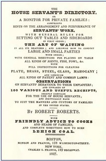 Introductory page to Roberts' Guide to Butlers spelling out the very many topics that are covered in the book. (Source: Roberts' Guide for Butlers)