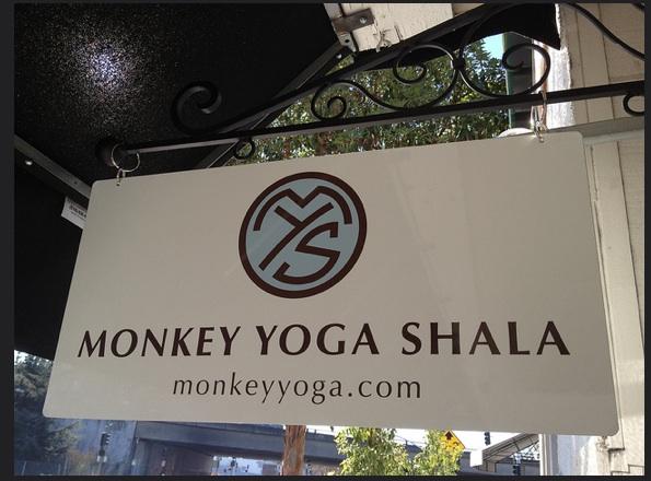 Sign for Monkey Yoga Shala studio in Oakland, CA. (Photo: Monkey Yoga Studio)