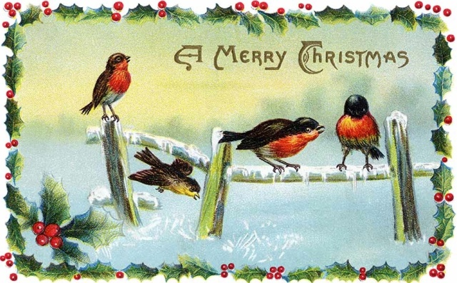 Vintage Christmas Card via the Best Template Collection at Videos2Watch