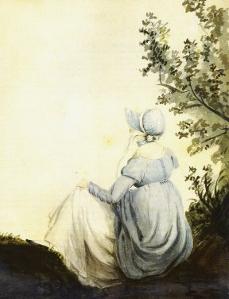 Cassandra Austen's watercolour portrait of her sister, Jane. Via JASNA.