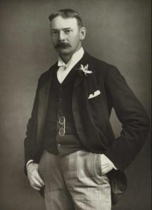 Jerome K. Jerome in 1890. (Source: National Media Materials, via Wikipedia)